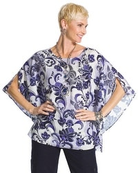 Blossoming Floral Poncho