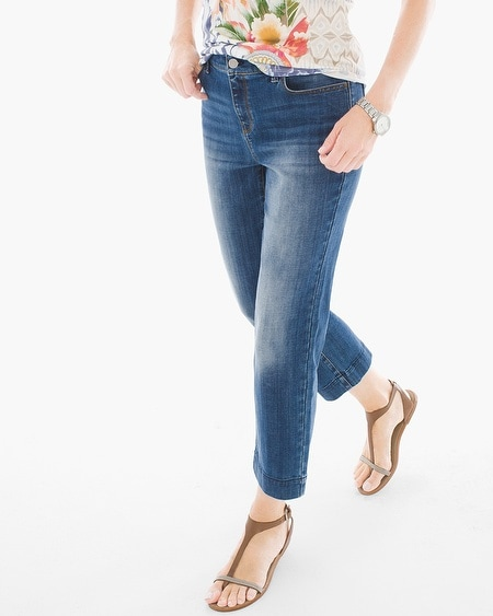 Platinum Straight-Leg Crop Jeans