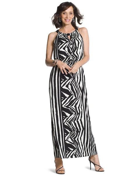 778cd3e0634 Return to thumbnail image selection Knit Zebra Maxi Dress video preview  image