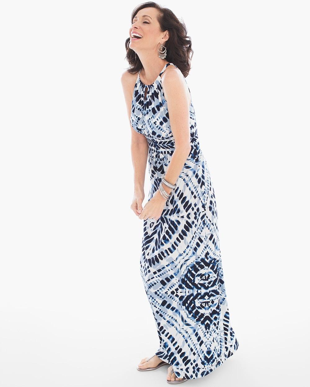 a2d5759e23 Return to thumbnail image selection Blue Diamond Tie-Dye Maxi Dress video  preview image