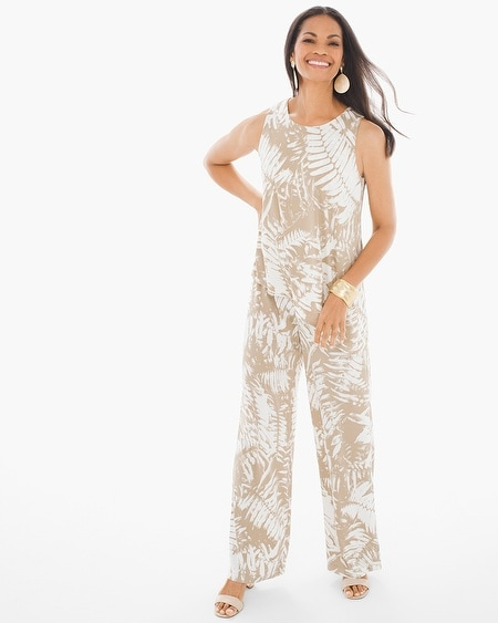 Tonal Palms Jumpsuit