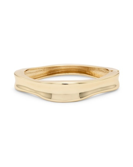Rue Gold-Tone Concave Bangle