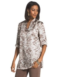 Travelers Collection Animal Border Print Top