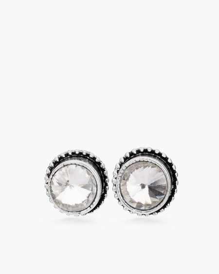 Alesa Silver-Tone Stud Earrings
