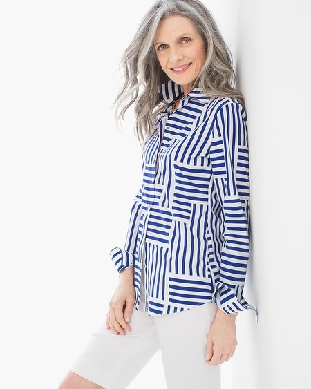 Effortless Beatrice Stripe Maze Shirt