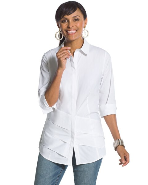 23f7533e3710d Return to thumbnail image selection Tiered Ruffle Shirt video preview  image