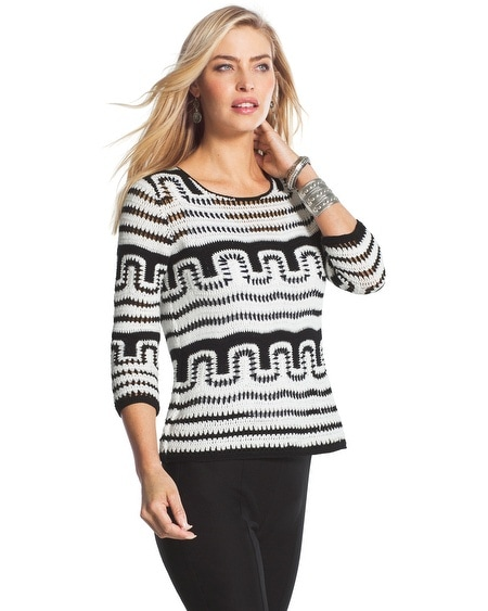 Patterned Sabel Pullover