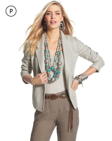 Petite Shine Textured Jacket