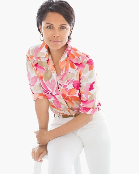 Effortless Linen Floral Sina Shirt