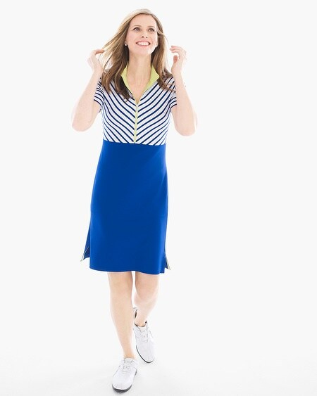 Zenergy Golf Striped Colorblock Dress