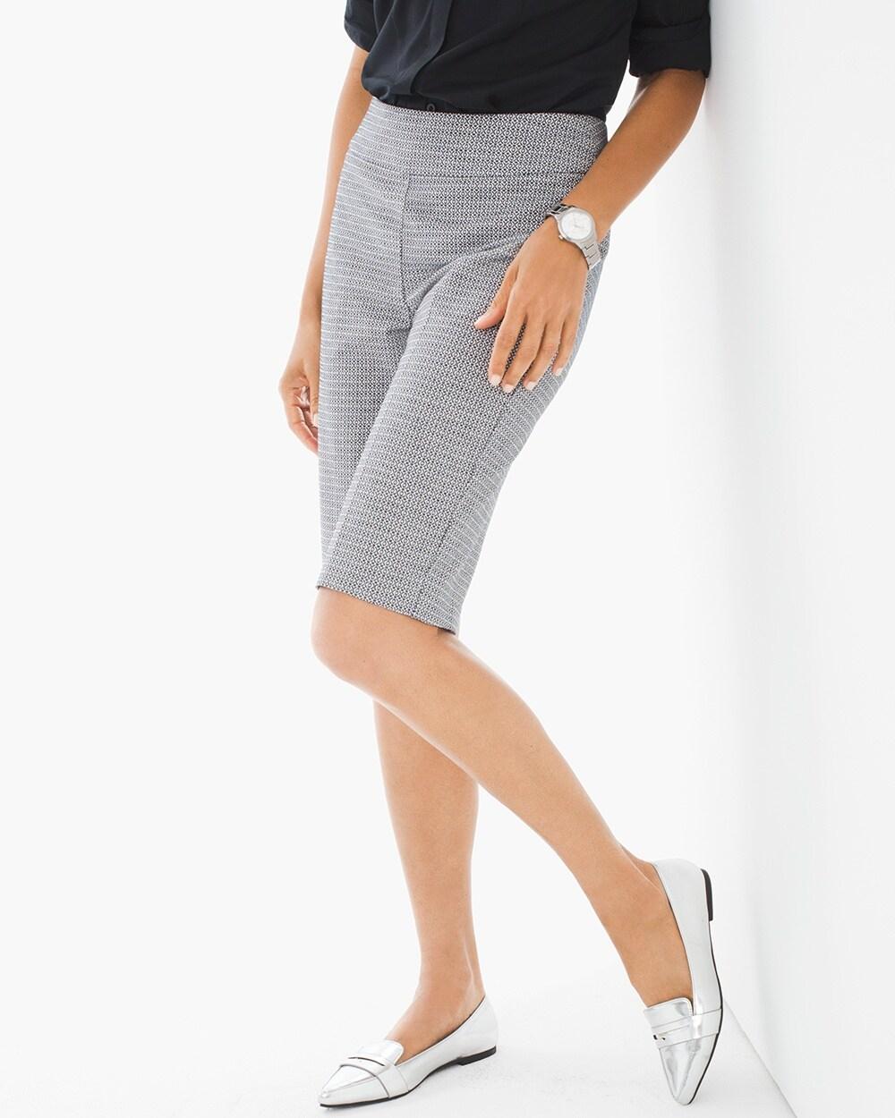 Brigitte Jacquard Shorts 11 Inch Inseam Chicos
