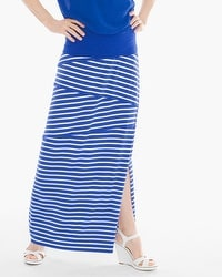 Tinley Blue and White Striped Maxi Skirt