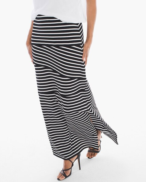tinley black and white striped maxi skirt chicos
