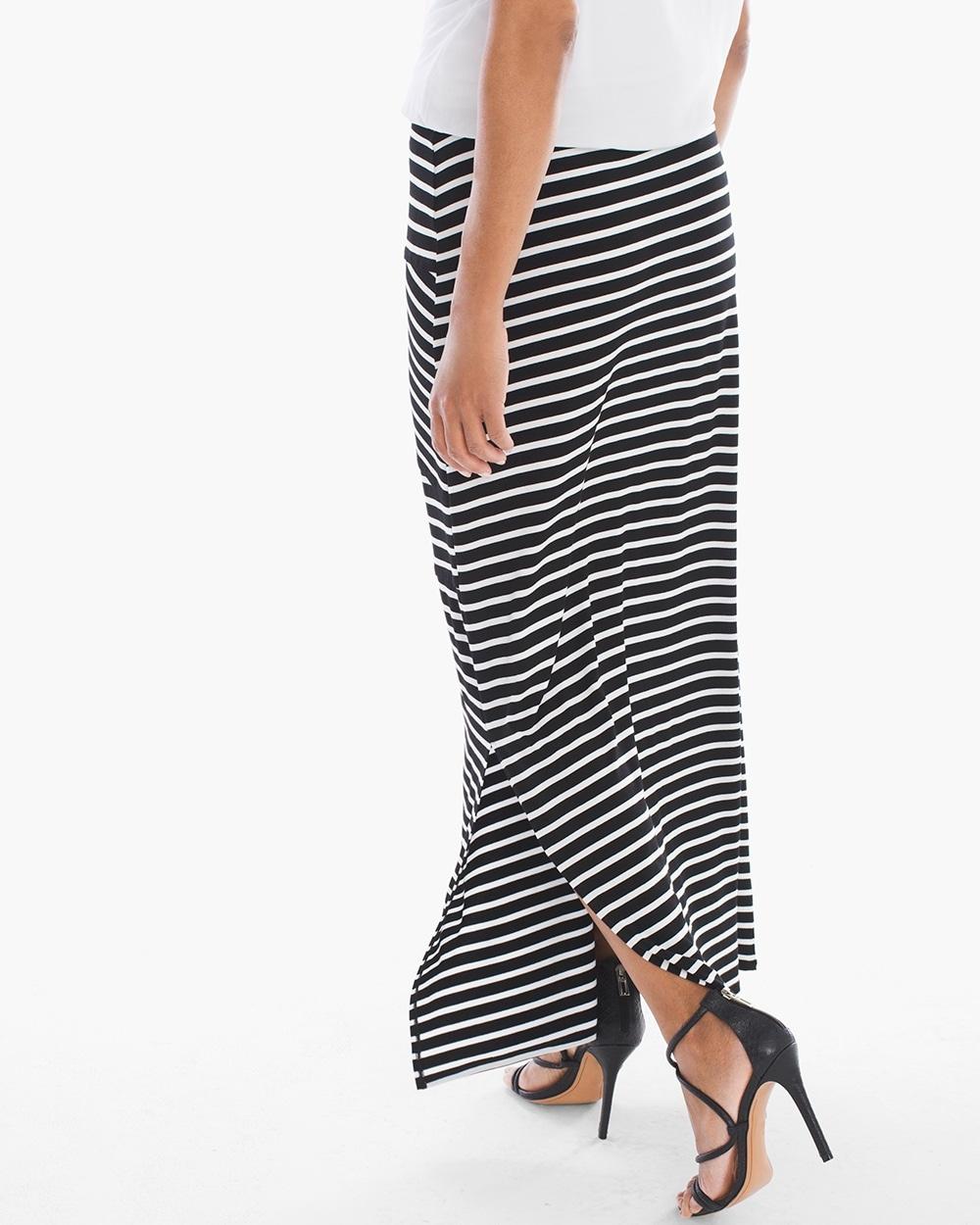 Tinley Black and White Striped Maxi Skirt - Tinley Black And White Striped Maxi Skirt - Chicos