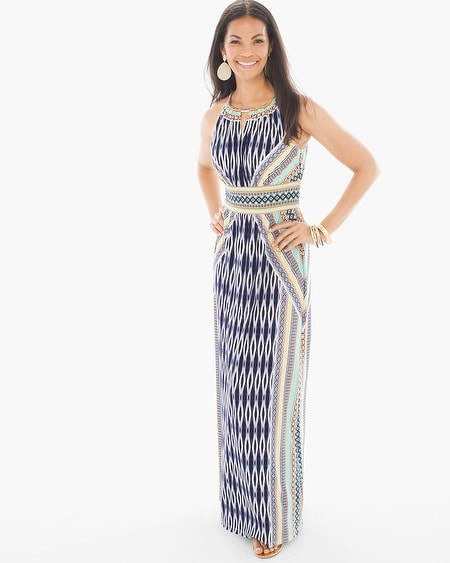 Exotic Ikat Maxi Dress