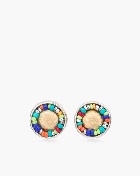 Zoey Button Earrings