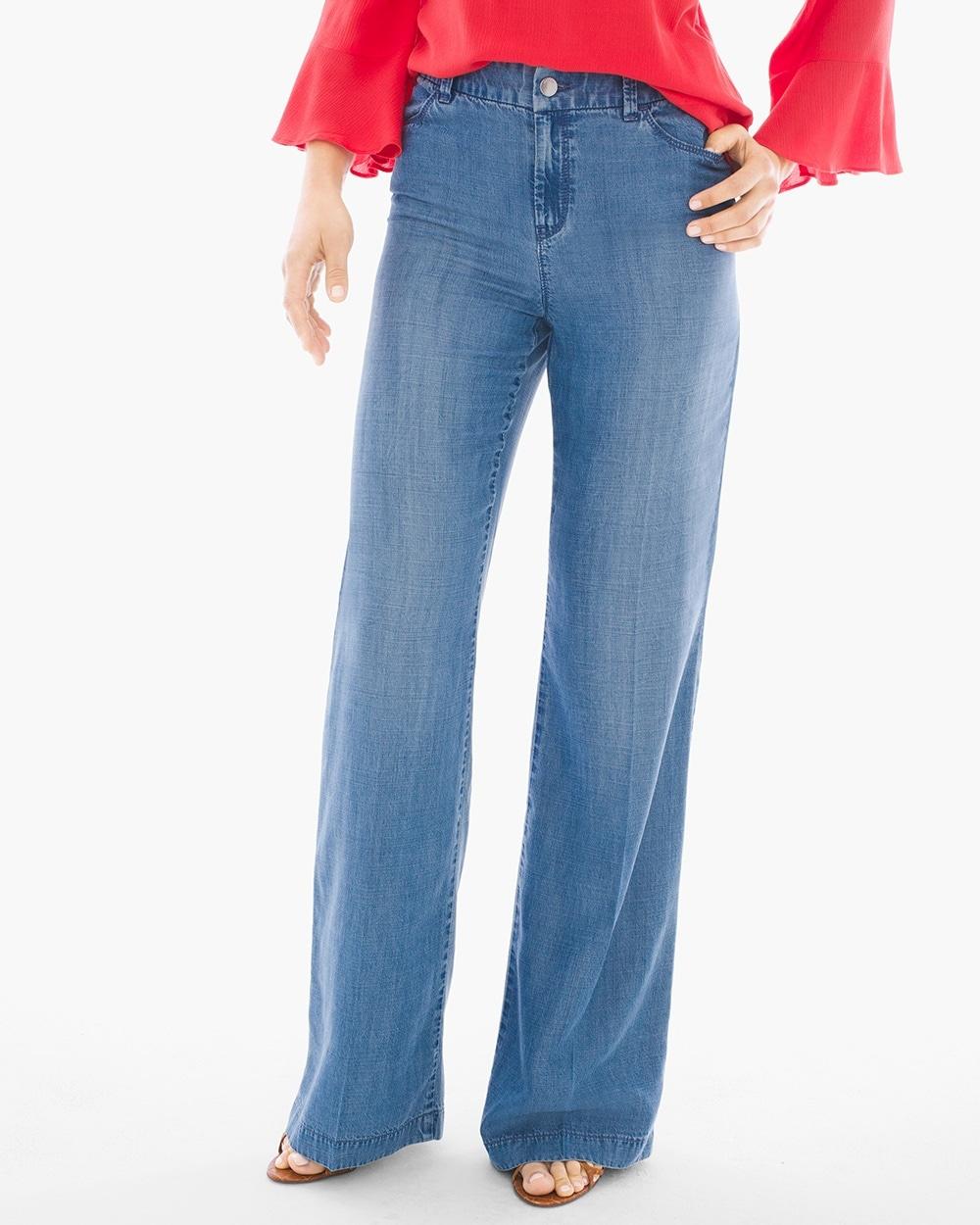 Platinum Wide-Leg Trouser Jeans - Chicos