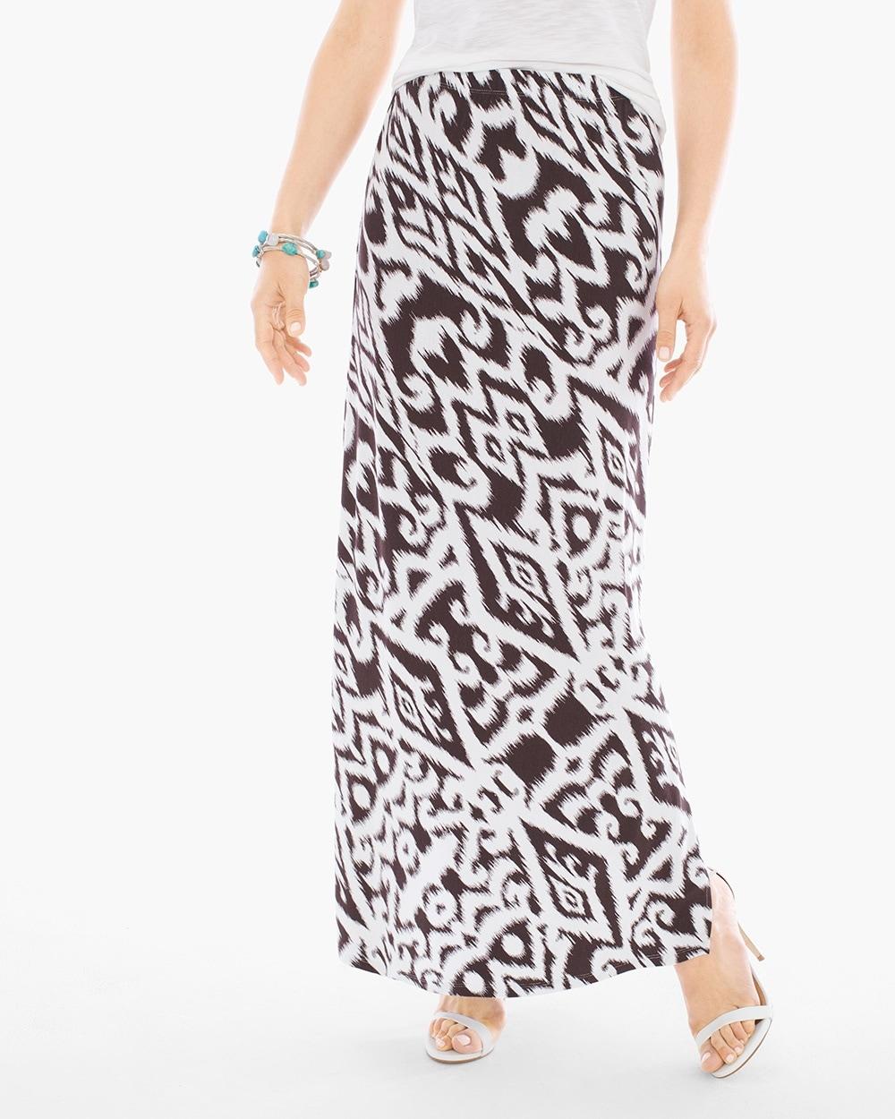 0bcd464b59 Tribal Bi-Color Maxi Skirt - Chico's