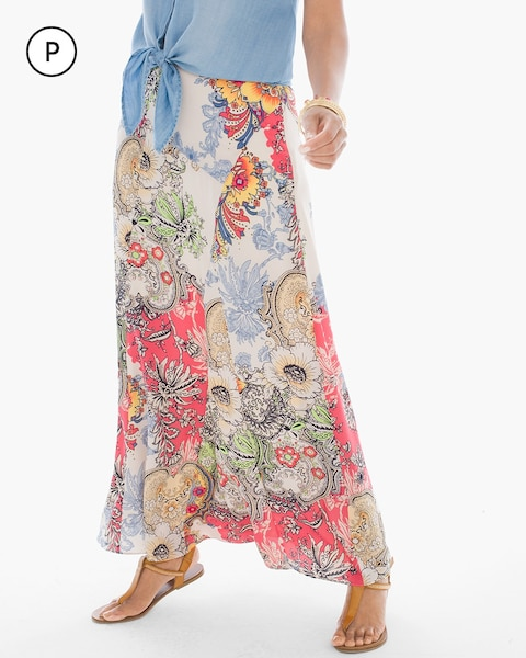 Petite Patchwork Floral Maxi Skirt - Chicos