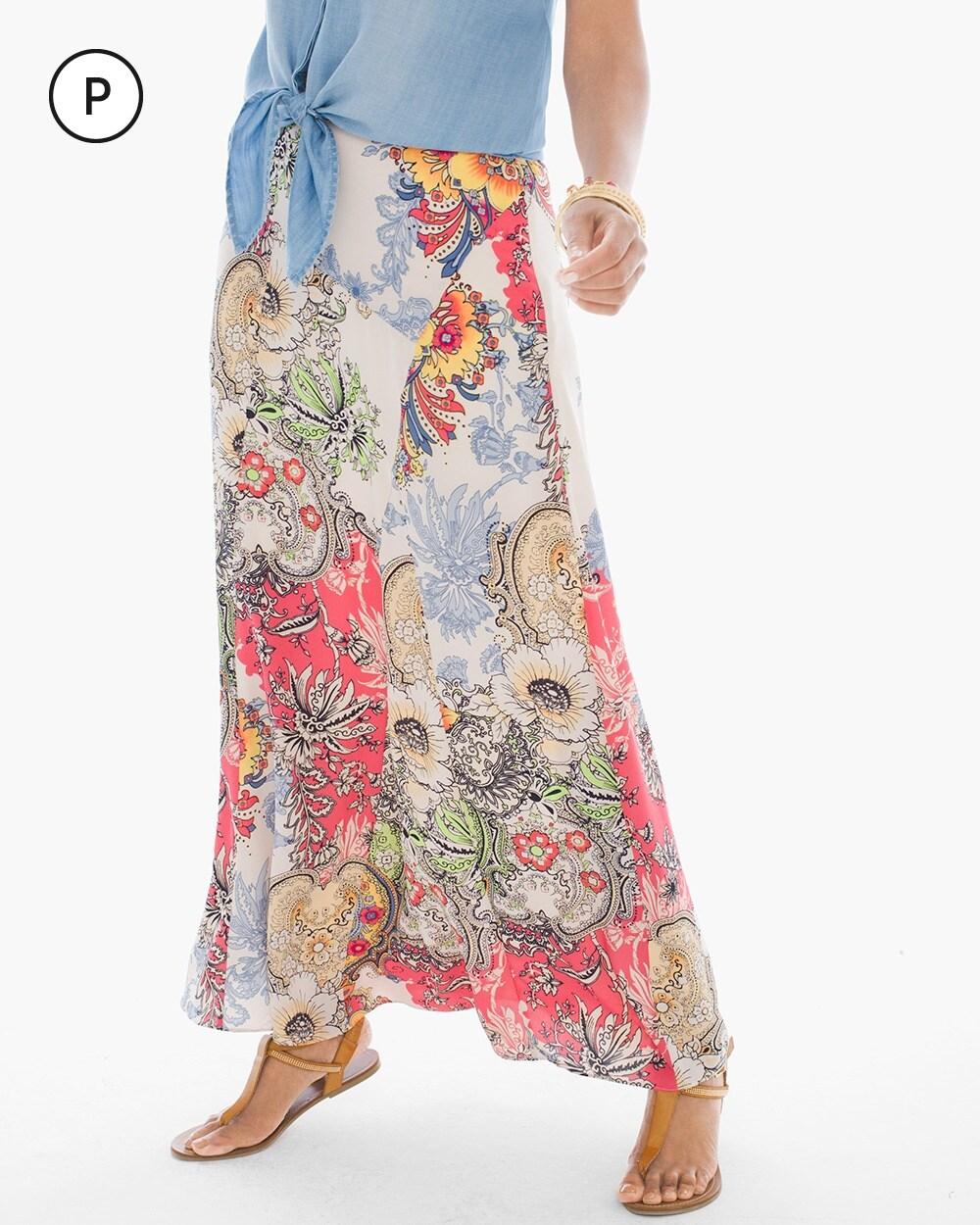 Petite Patchwork Floral Maxi Skirt - Chicos