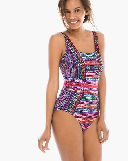 Gottex Nefertiti Square Neck One-Piece Swimsuit
