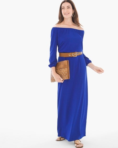 Solid Peasant Maxi Dress - Chicos