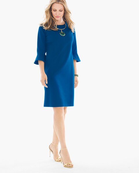 3aa25c91e Ponte Bell-Sleeve Short Dress - Chico's
