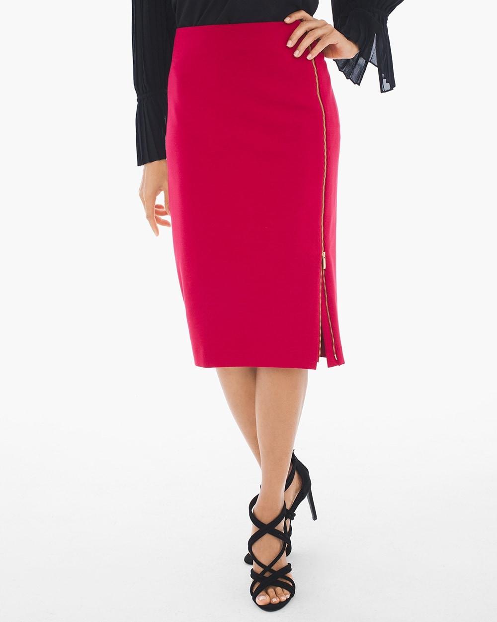 ce6242b1ca Side-Zip Ponte Pencil Skirt - Chico's