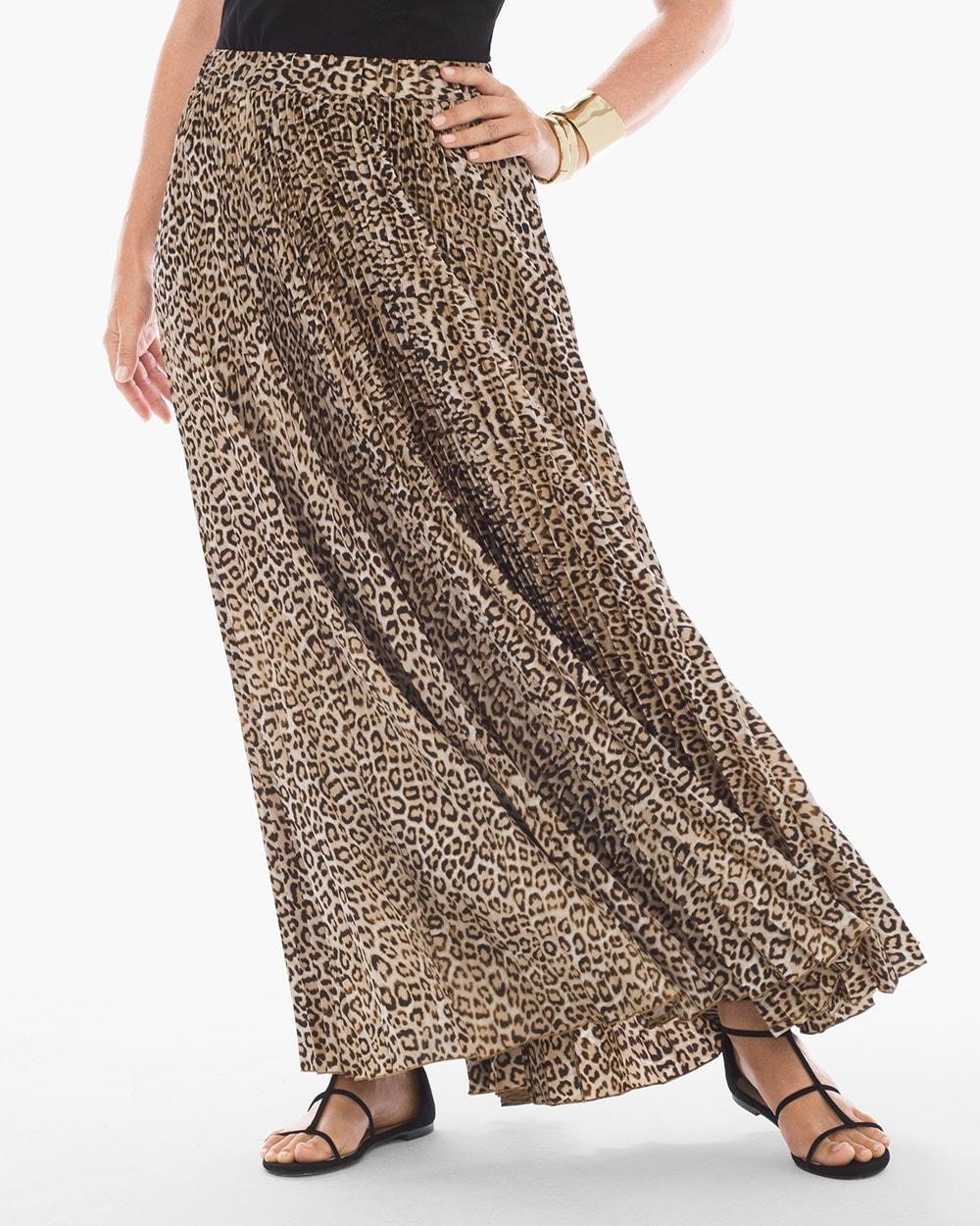 Leopard Maxi Skirt Chicos