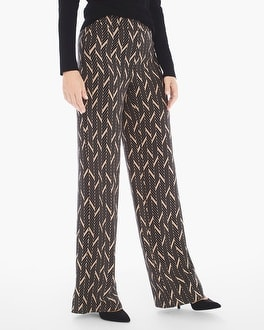 Chico's Elevated Miter-Print Wide-Leg Pants | Tuggl