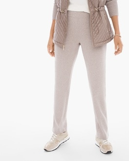 Chico's Cotton Cashmere Ribbed Pants | Tuggl