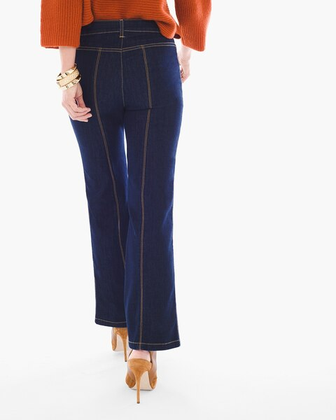 Petite Cropped Wide-Leg Trouser Jeans - Chicos