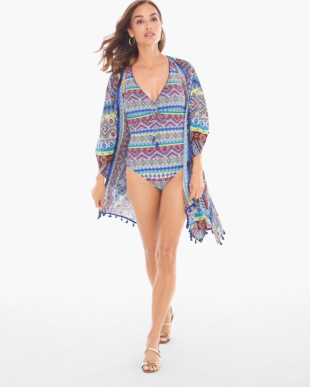 6ce35eed78 Return to thumbnail image selection Tapmastery Swim Cover-up Kimono