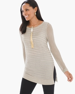 Chico's Shine Detail Amelie Pullover | Tuggl