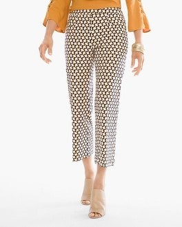 Chico's Hexagon-Print Crops at Chico's in Brooklyn, NY | Tuggl