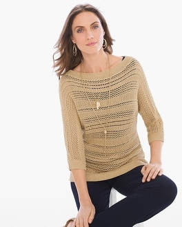 Chico's Shimmer Sweater at Chico's in Brooklyn, NY | Tuggl