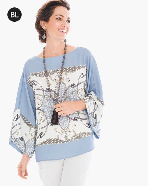 689d5b366be8fb Scarf-Print Blouse - Chico's