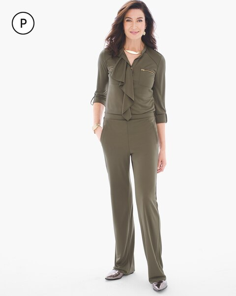 fa36e88f35 Return to thumbnail image selection Petite Ruffled Utility Jumpsuit video  preview image