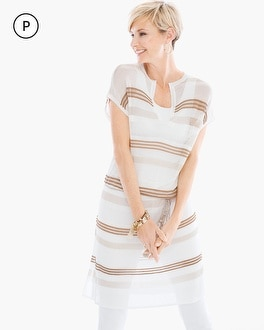 Chico's Petite Striped Belted Tunic at Chico's in Auburn, GA | Tuggl