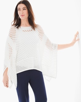Chico's Crochet Poncho Sweater | Tuggl