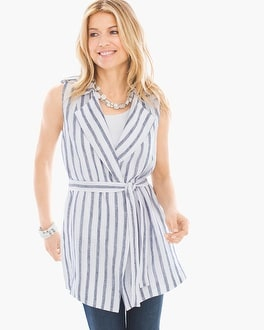 Chico's Striped Tie-Waist Vest at Chico's in Brooklyn, NY | Tuggl