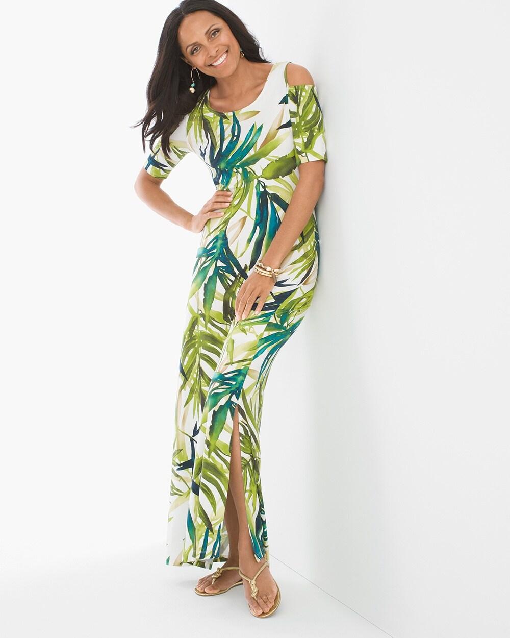 c1b4200363 Tropical Cold-Shoulder Maxi Dress - Chico's