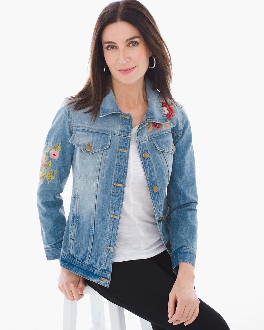 e929497e23 Embroidered Denim Jacket - Chico s