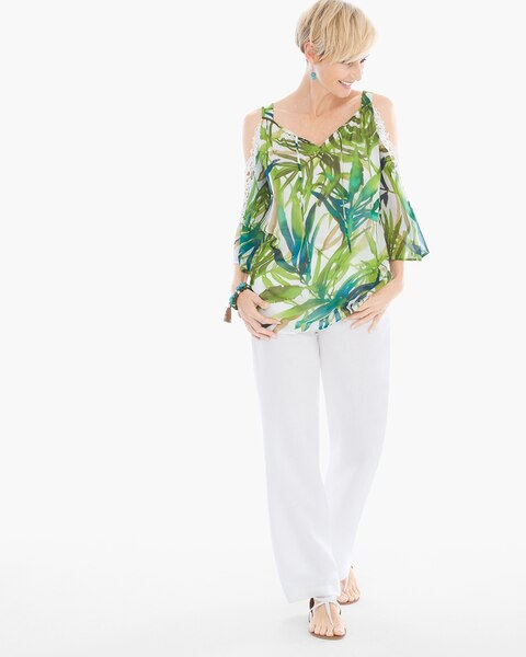 dcefeb637b6a5d Return to thumbnail image selection Painted Tropical Cold-Shoulder Top