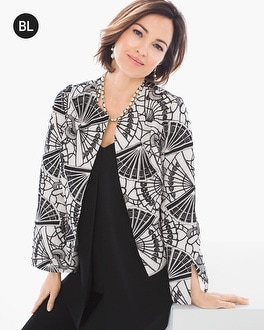 Chico's Embroidered Linen Jacket | Tuggl