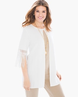Chico's Chevron Fringe Duster at Chico's in Brooklyn, NY | Tuggl