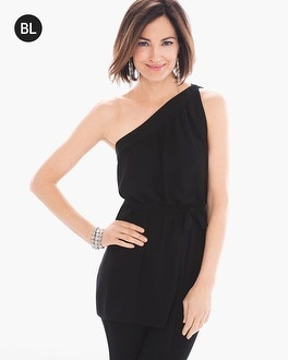 Chico's Petite One-Shoulder Belted Top | Tuggl