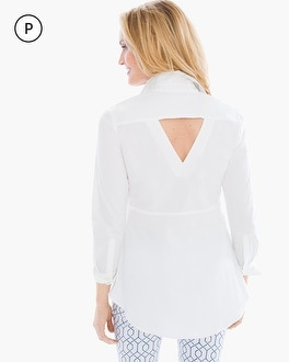 Chico's Petite Back-Detail Button-Down Shirt | Tuggl