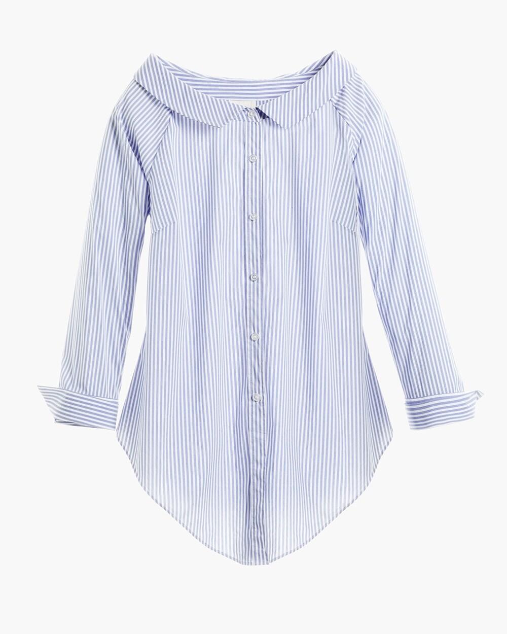 Panama Striped Portrait Shirt Chico S