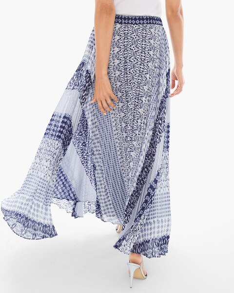 pleated geo maxi skirt chicos